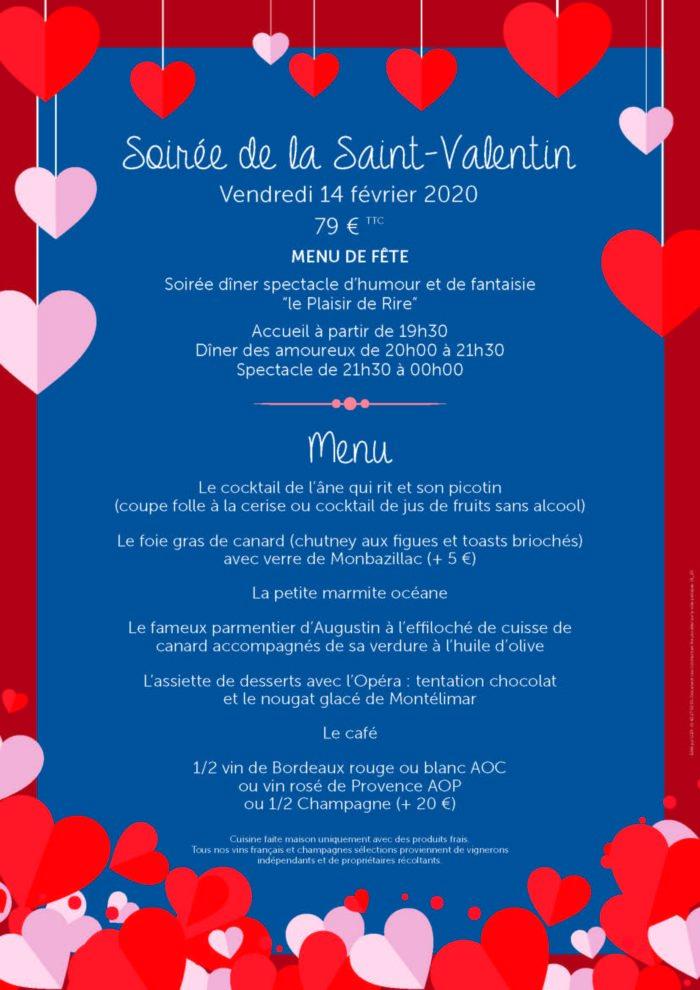 Dîner-spectacle de la Saint Valentin